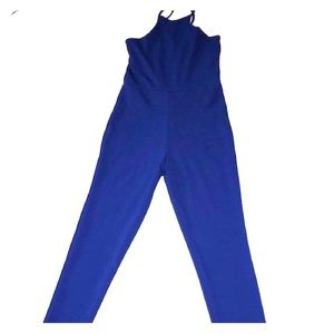 Blue crisscross back jumpsuit
